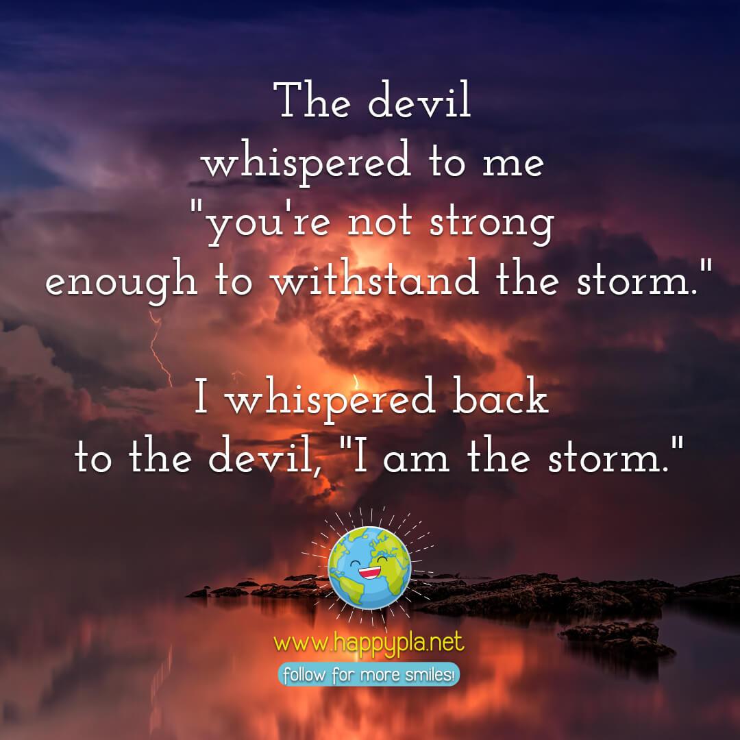 The devils whisper