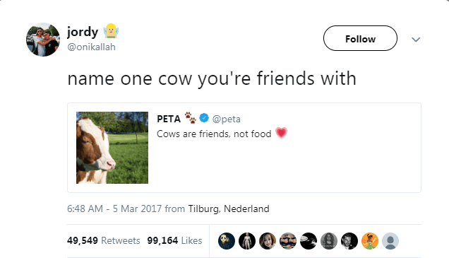 Name one cow you are friends with.