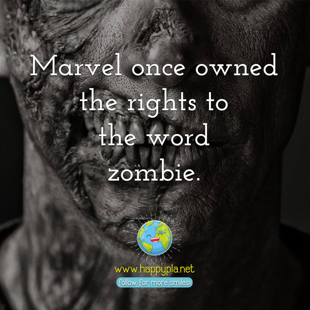 Marvel once owned the rights to the word zombie.
