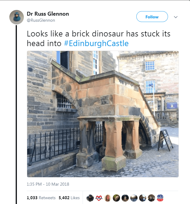 Dinosaur sighting in Scotland
