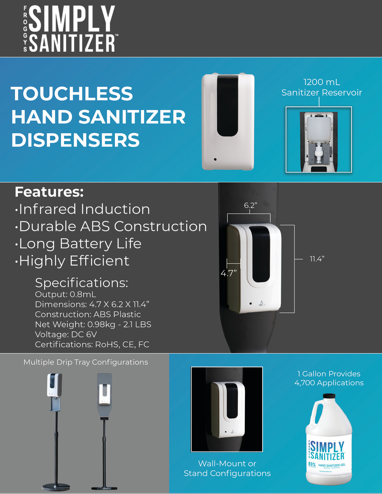 touchless dispensers
