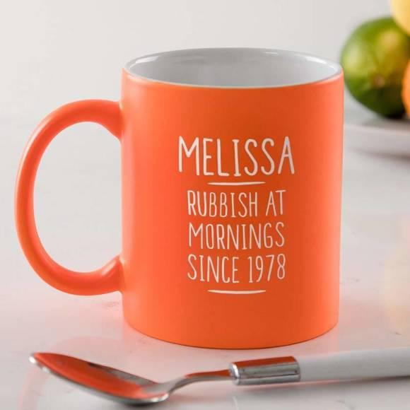 Personalised 40th Birthday Mug For Women