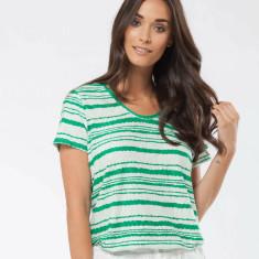 Bailey - Top green stripe