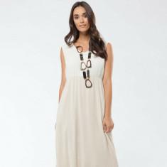 Cecile Dress In White & Camomile
