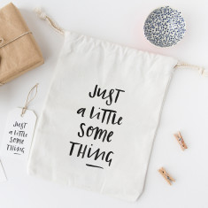 Just a little something canvas gift bag