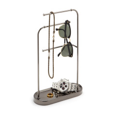 Umbra hi bar jewellery organiser in titanium