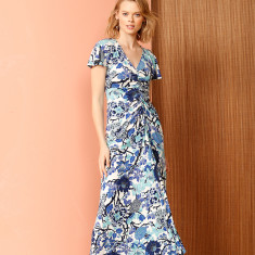 Blue Duchess Maxi Dress