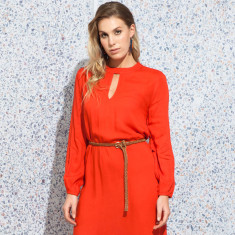 Saxon plain orange dress