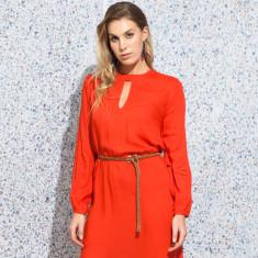 Saxon plain orange dress