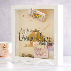 Personalised Dream House Fund Money Box Frame