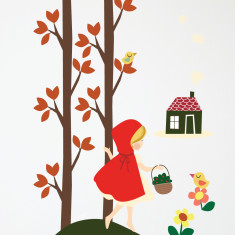 Riding Hood wall sticker