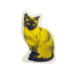 Areaware fauna siamese cat cushion