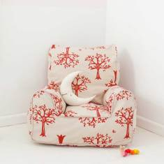Red orchard bean bag chair cover