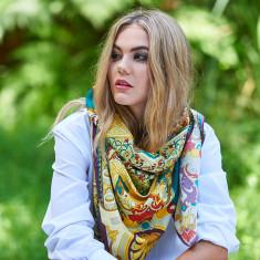 Talia Persian silk scarf