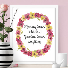 Grandma knows everything print