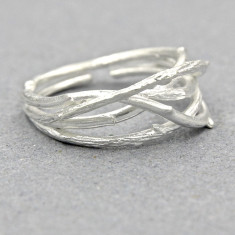 Rustic branch ring