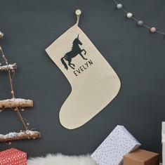 Personalised Christmas Unicorn Stocking