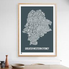 Greater Western Sydney type print