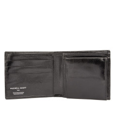 Personalised Mens Leather Wallet with Coin Section, The Ticciano