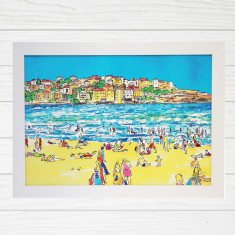 Bondi beach & Ben Buckler framed art print