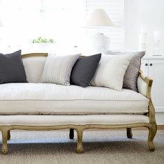 French Provincial sofa - oak frame