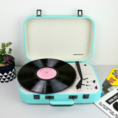 Crosley Coupe Bluetooth Vinyl Record Turntable With Pitch Control - Teal