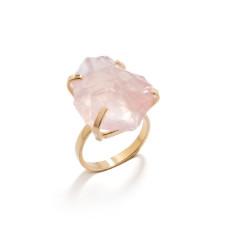 Glacier Gemstone Rose Quartz Ring