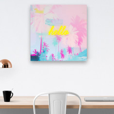 Pink palm tree print
