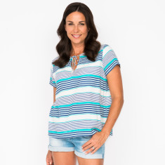 Nicola stripe navy top