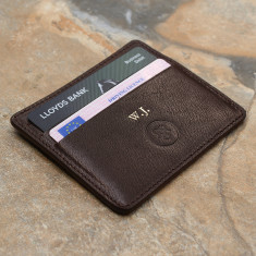 The Marco Personalised Italian Leather Card Holder