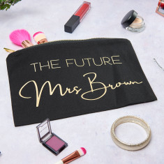 Personalised The Future Mrs Make Up Bag