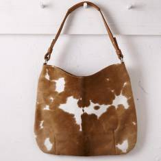 Hobo in natural tan cowhide