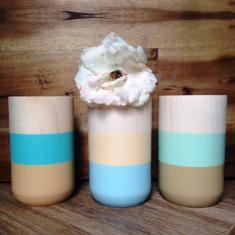 By the sea side small vases (set of 3)
