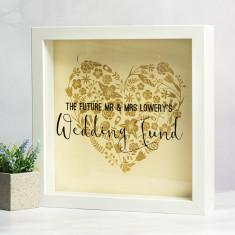 Personalised Wedding Fund Money Box Frame