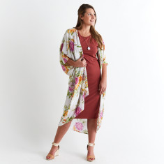 Kimocape kaftan in Dahlia (wear multiple ways)