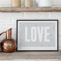 Bold & Noble love letters print