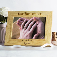 Personalised Our Honeymoon Photo Frame