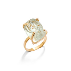 Glacier Gemstone Green Amethyst Ring