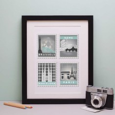 Favourite Destinations Stamp Art Print