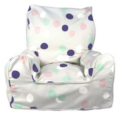 Pink smarties bean chair cover