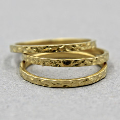 Hammered ring set