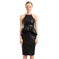 Black Liberty lambskin leather skirt
