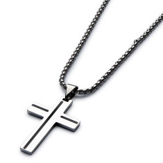 Armoured cross necklace