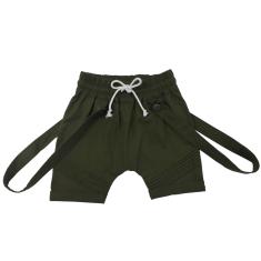 Dash Harem Shorts in Khaki Green