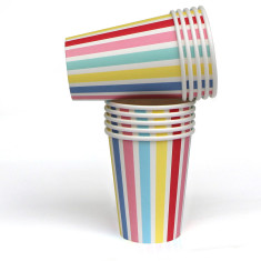 Carnival stripe paper cups (pack of 2)