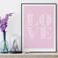Bold & Noble love print
