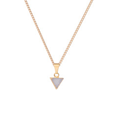 Mini Triangle Light Grey Drusy Pendant Necklace