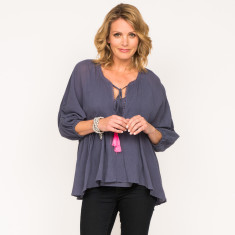Piper top in navy with underslip cami included