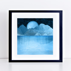Night lake edition fine art giclee print