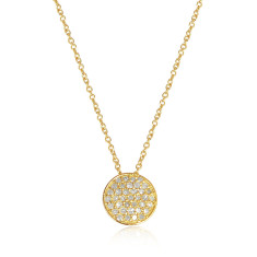 Twinkle diamond set pendant necklace